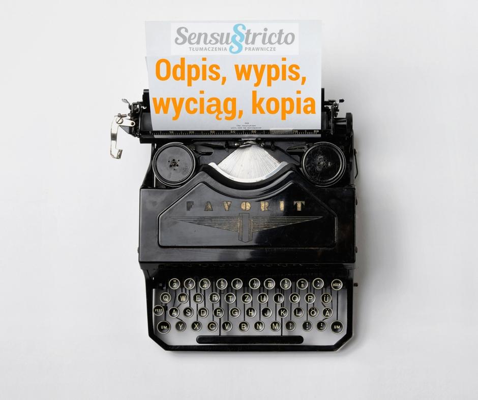 Odpis, wypis, wyciąg, kopia - tłumacz języka hiszpańskiego Monika Gaik