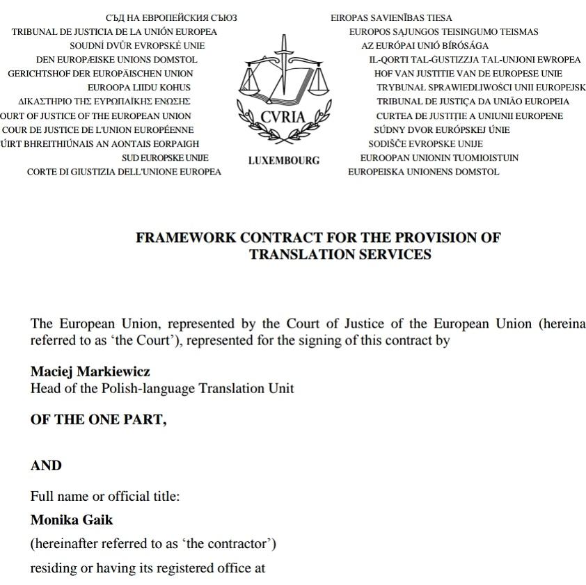 tłumaczenie dokumentów unijnych Monika Gaik